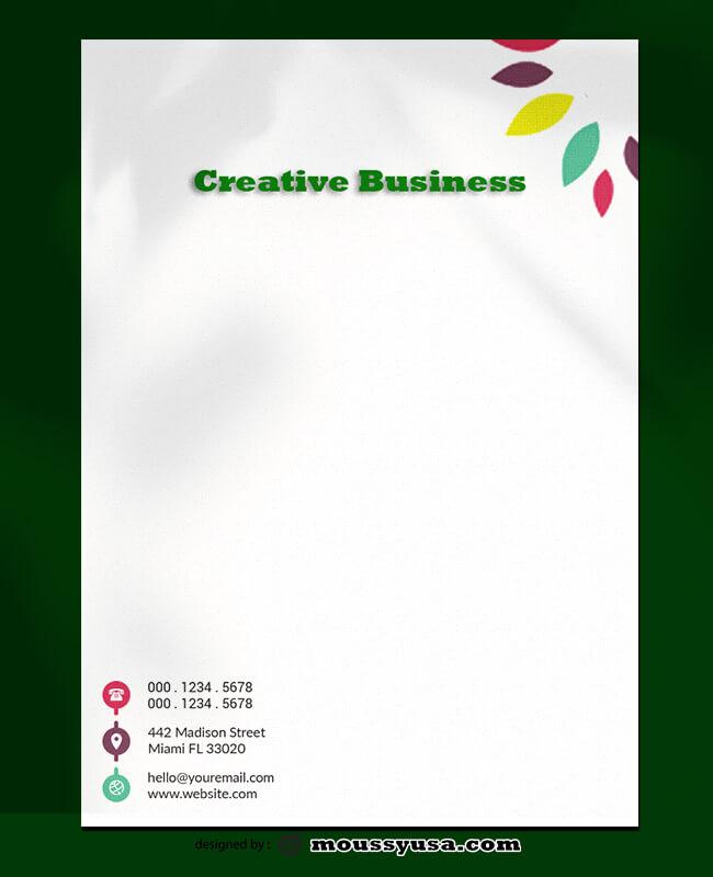 Creative Business Letterhead Design PSD