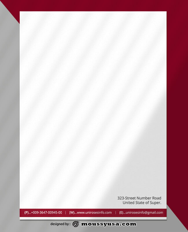 Creative Business Letterhead Design Template