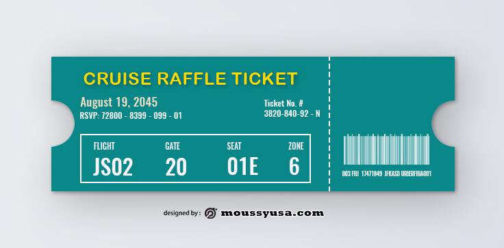 Cruise Raffle Ticket Template Ideas