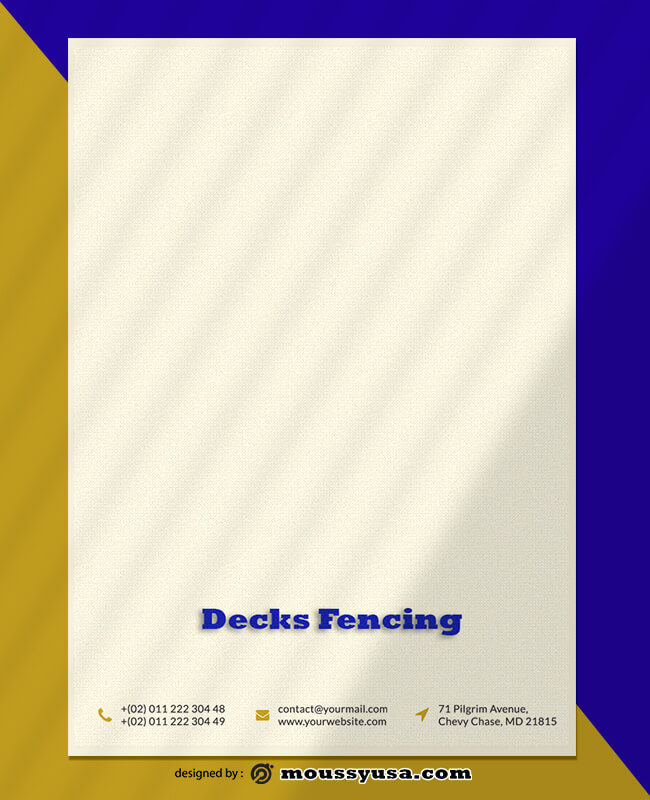 Decks Fencing Letterhead Template Sample