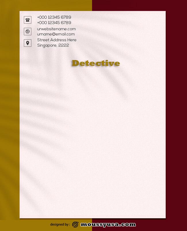 Detective Letterhead Template Design