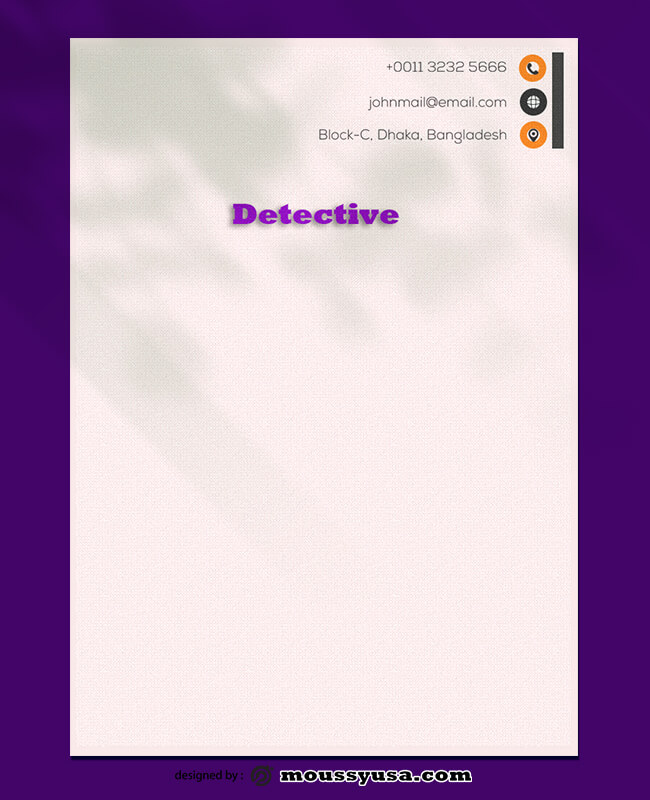 Detective Letterhead Template Ideas