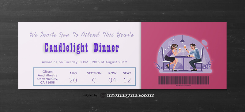 Dinner Ticket Template Ideas
