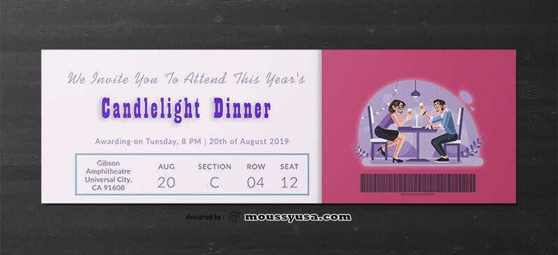Dinner Ticket Template Ideas