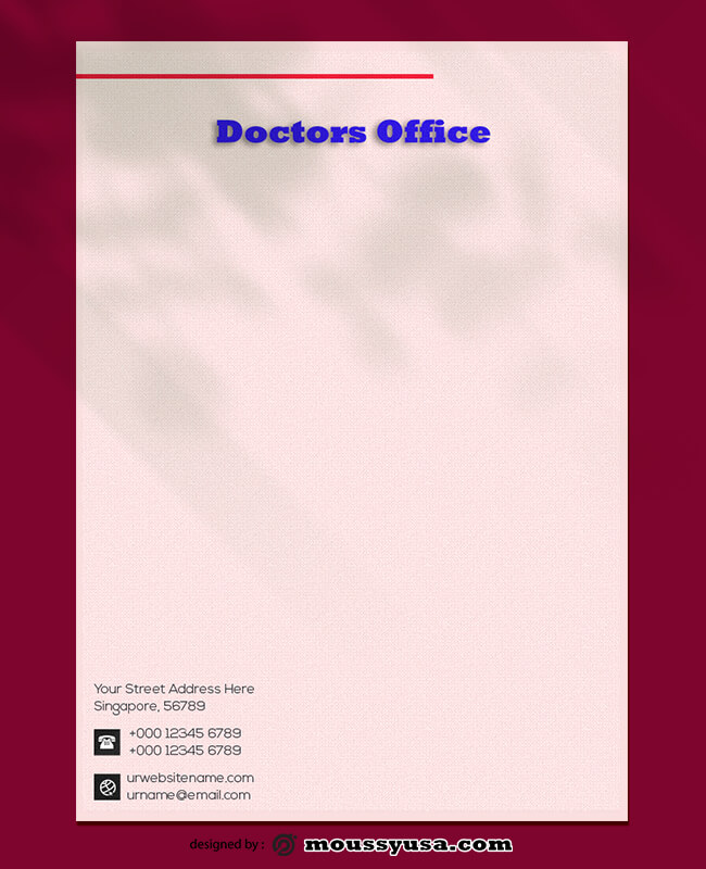 Doctors Office Letterhead Design PSD