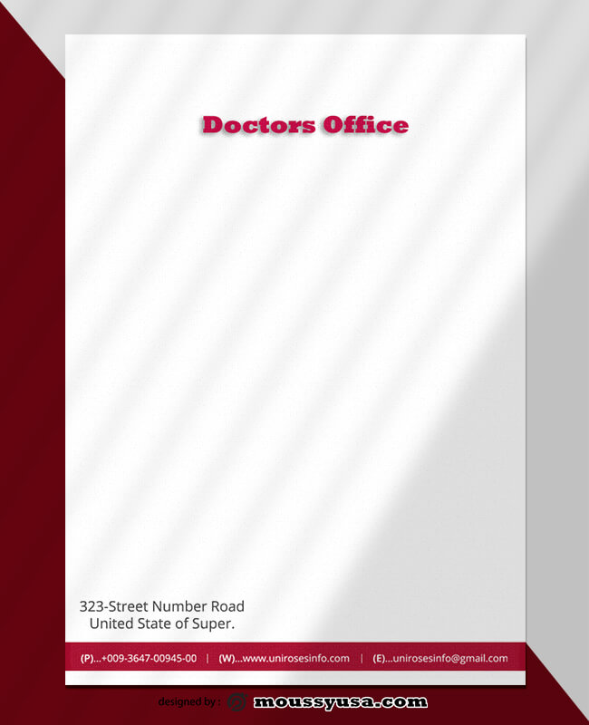 Doctors Office Letterhead Template Example