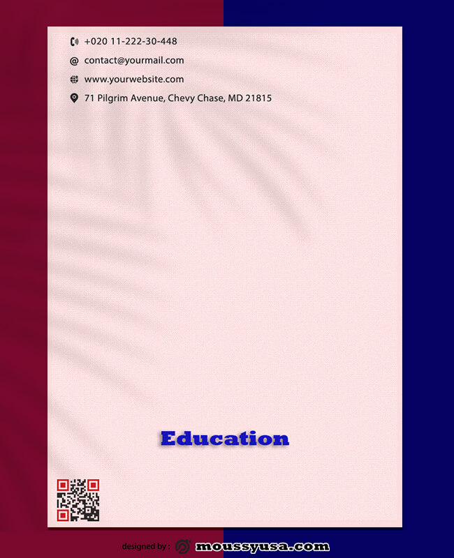 Education Letterhead Template Sample