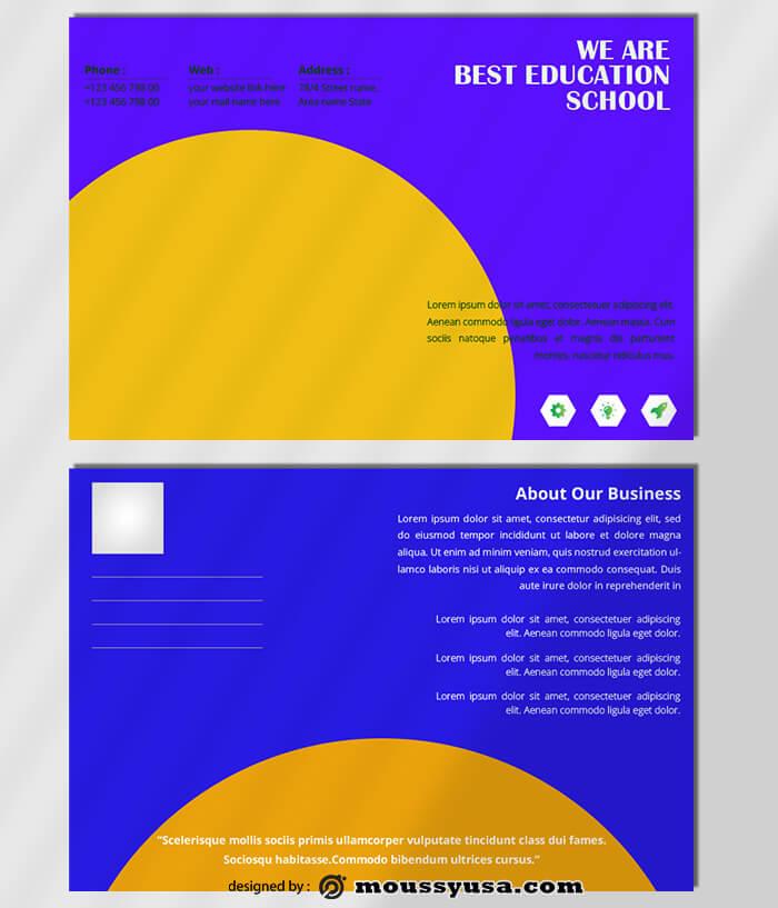 Education Postcard Template Ideas