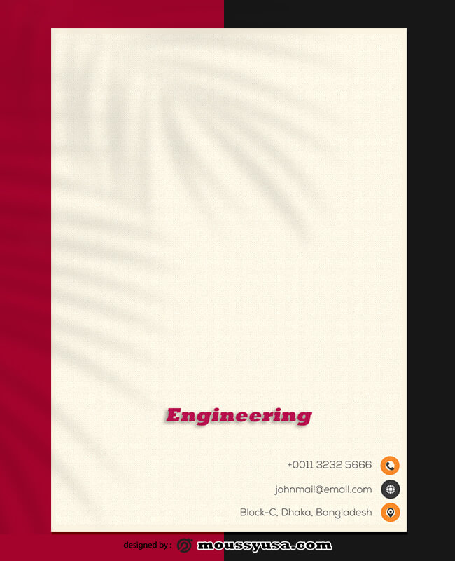 Engineering Letterhead Design PSD