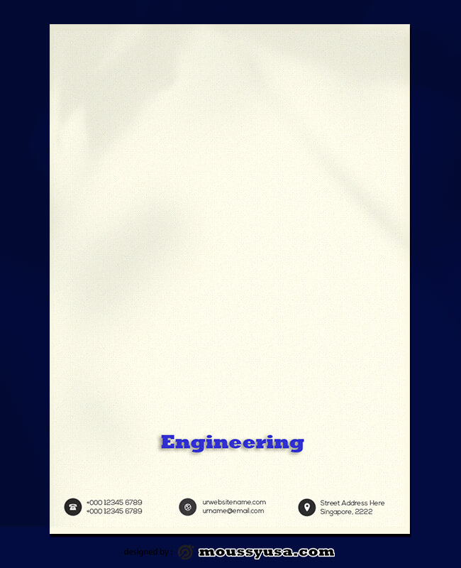 Engineering Letterhead PSD Template For