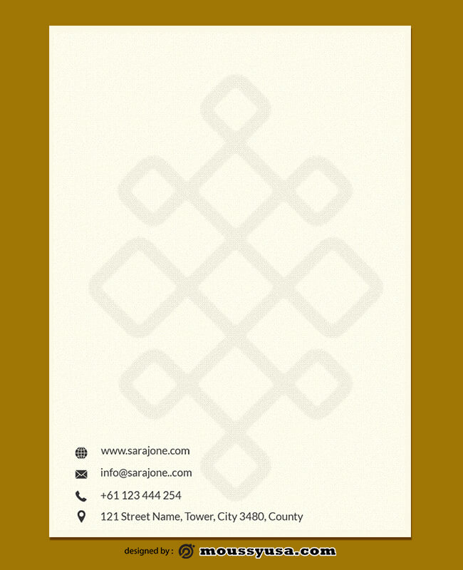 Event Planner Letterhead Design Template