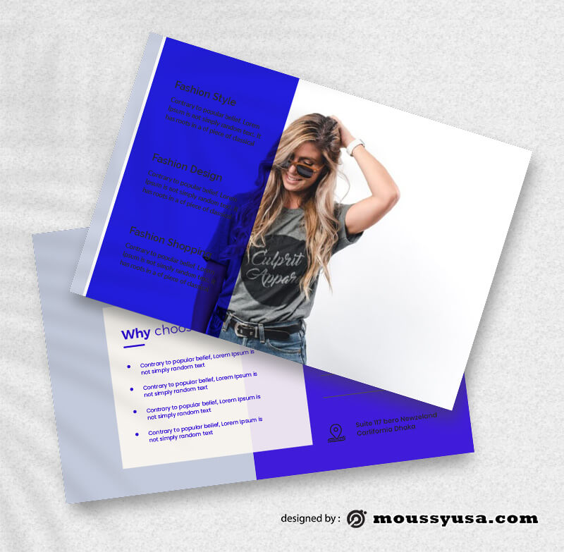 Fashion Postcard Design PSD