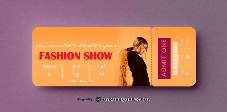 Fashion Show Ticket Design Ideas