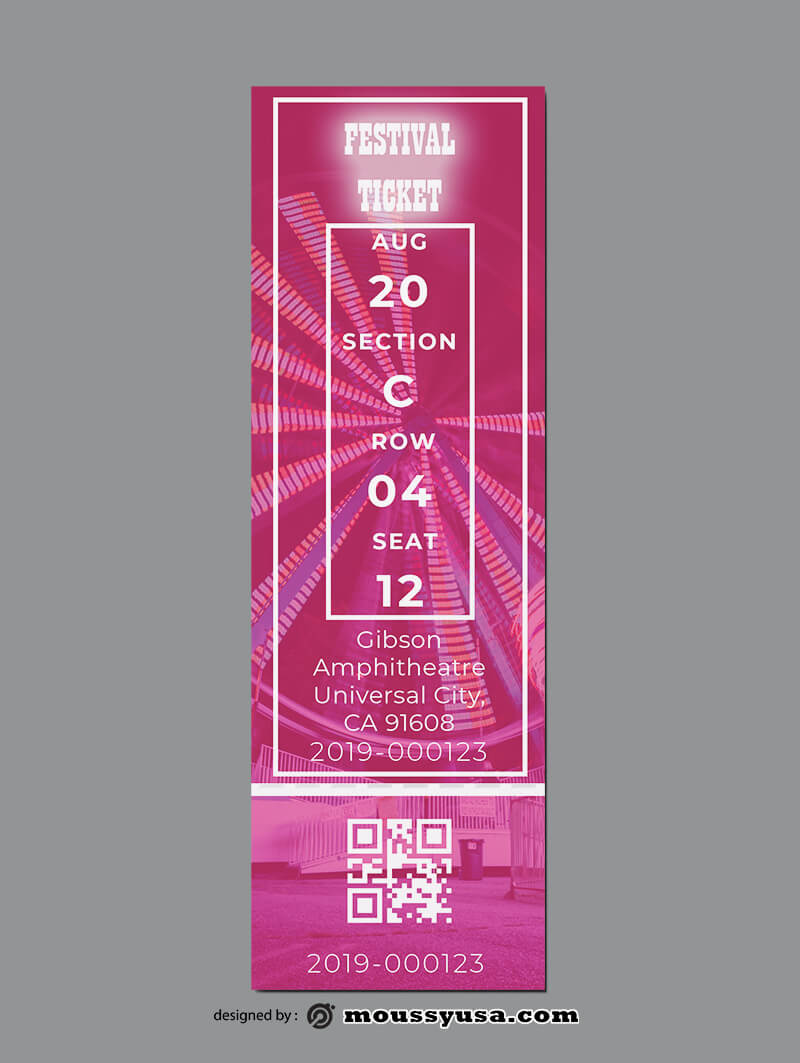 Festival Ticket Template Ideas
