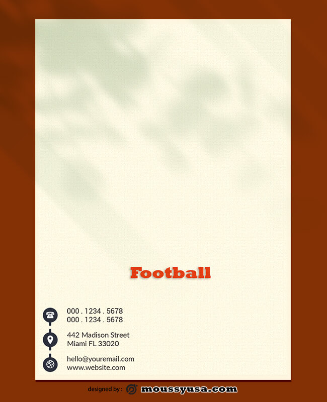 Football Letterhead Design PSD