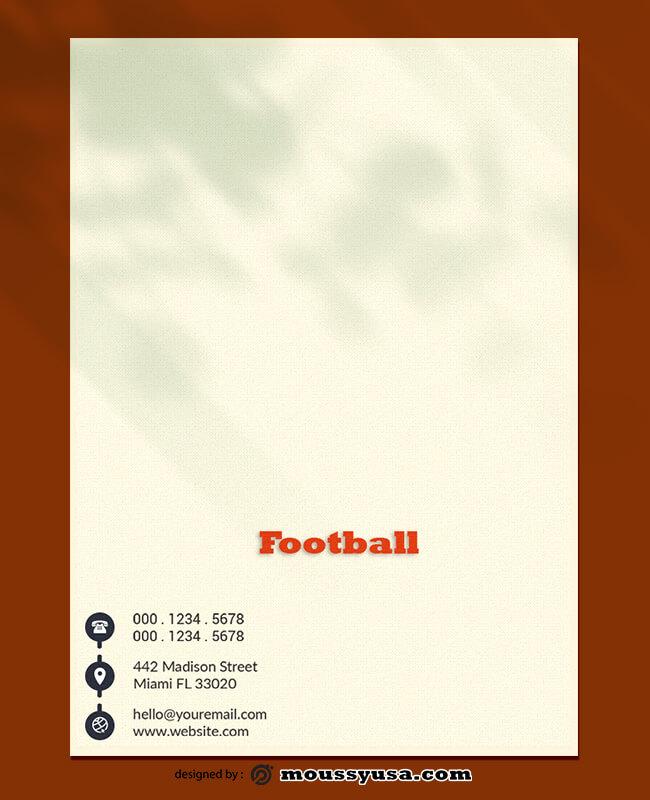 Football Letterhead Design PSD