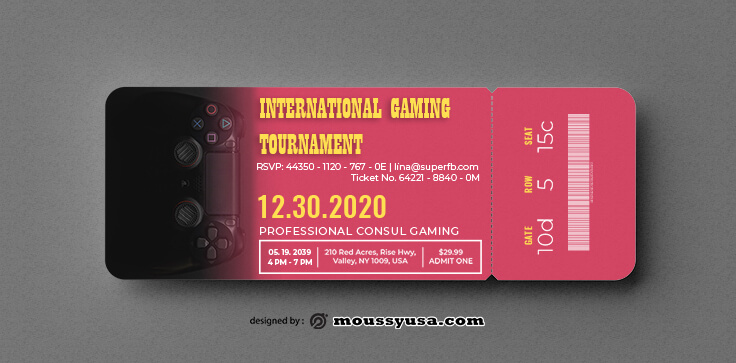 Gaming Ticket Template Ideas