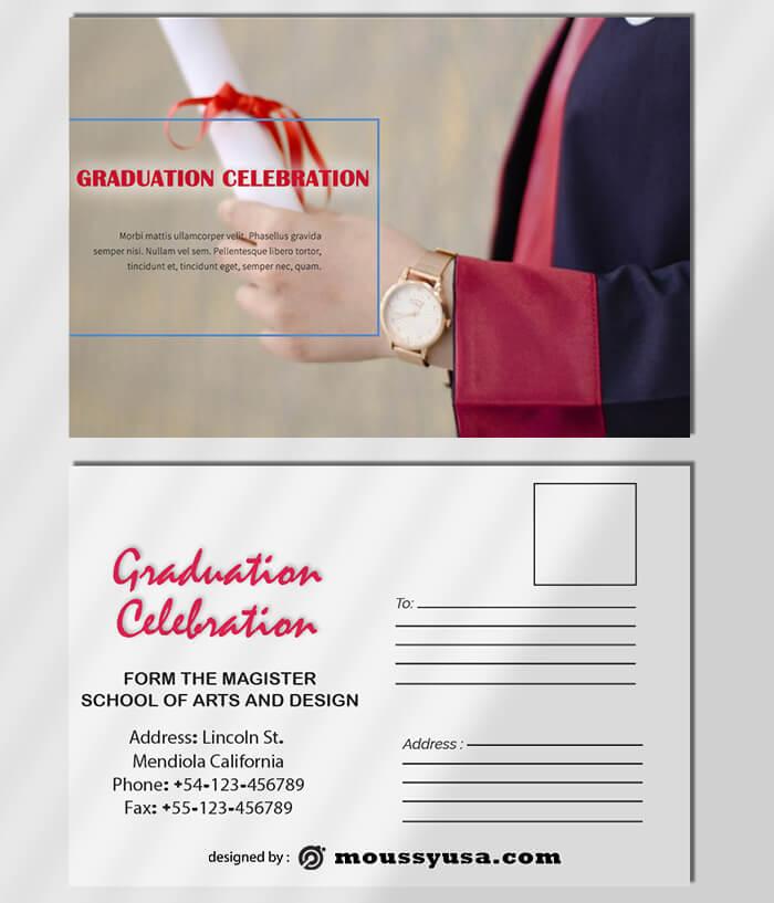 Graduation Postcard Template Ideas