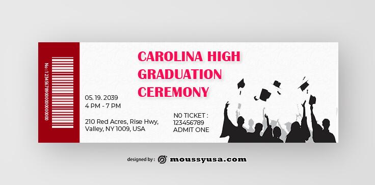 Graduation Ticket Template Ideas