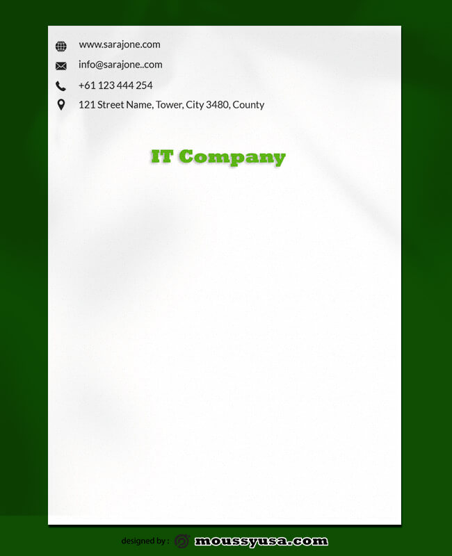 IT Company Letterhead Design Ideas