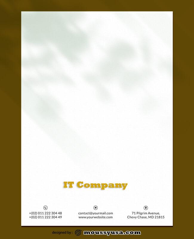 IT Company Letterhead Template Sample
