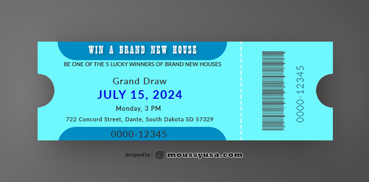 Ice Skating Ticket Template Design