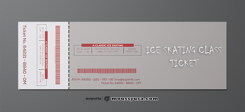 Ice Skating Ticket Template Example