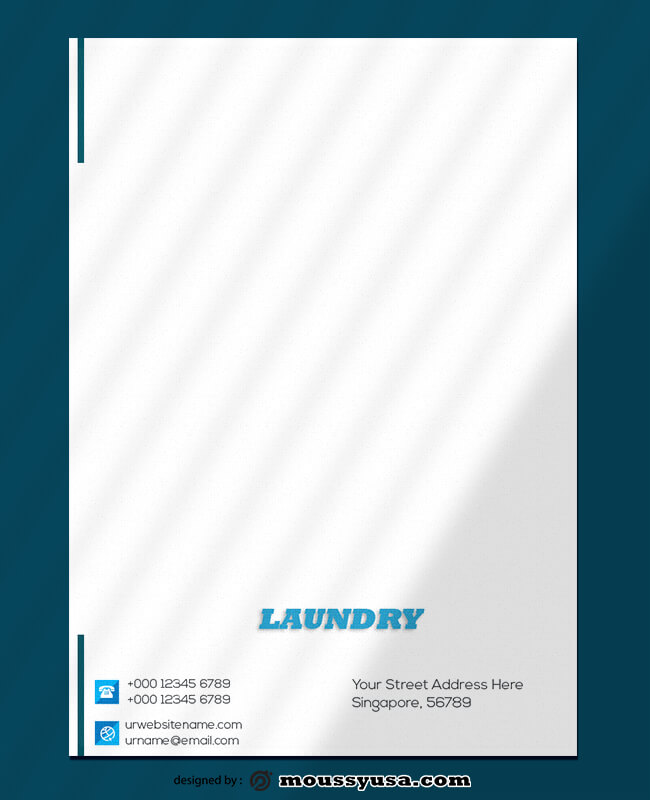 Laundry Letterhead Design Ideas