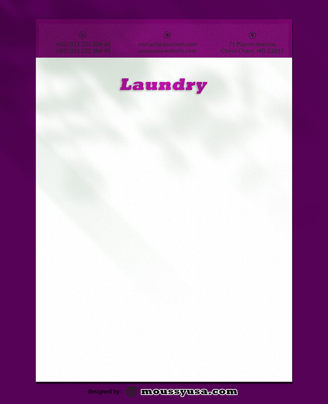 Laundry Letterhead Design PSD