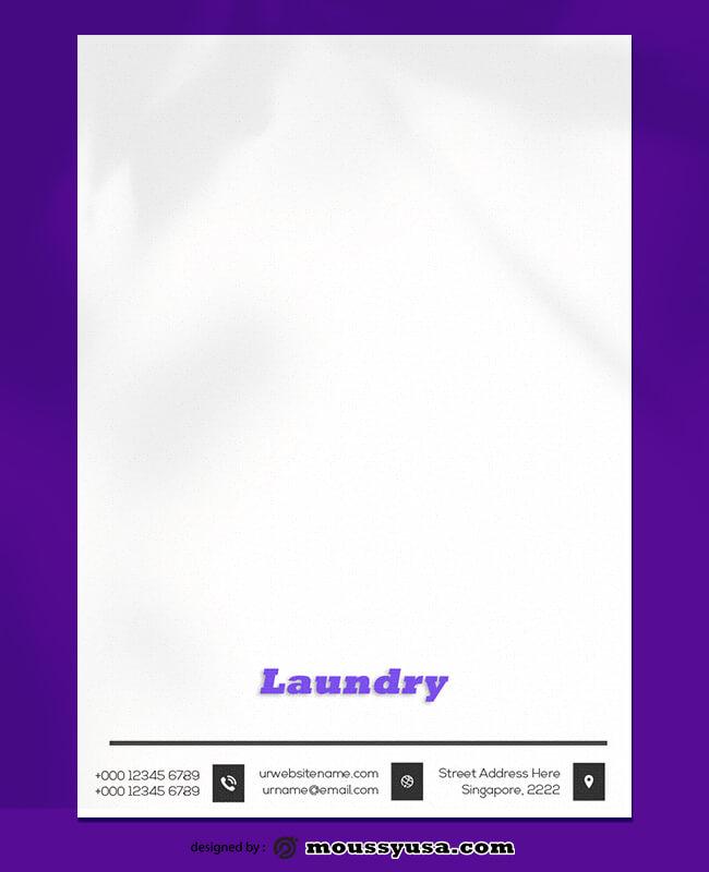 Laundry Letterhead Design Template