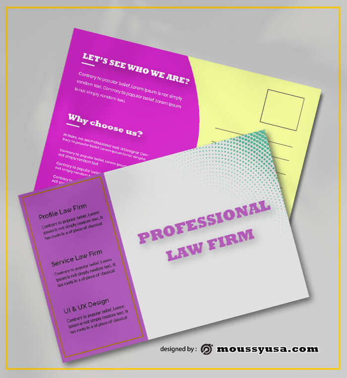 Law Firm PostCard Design Ideas