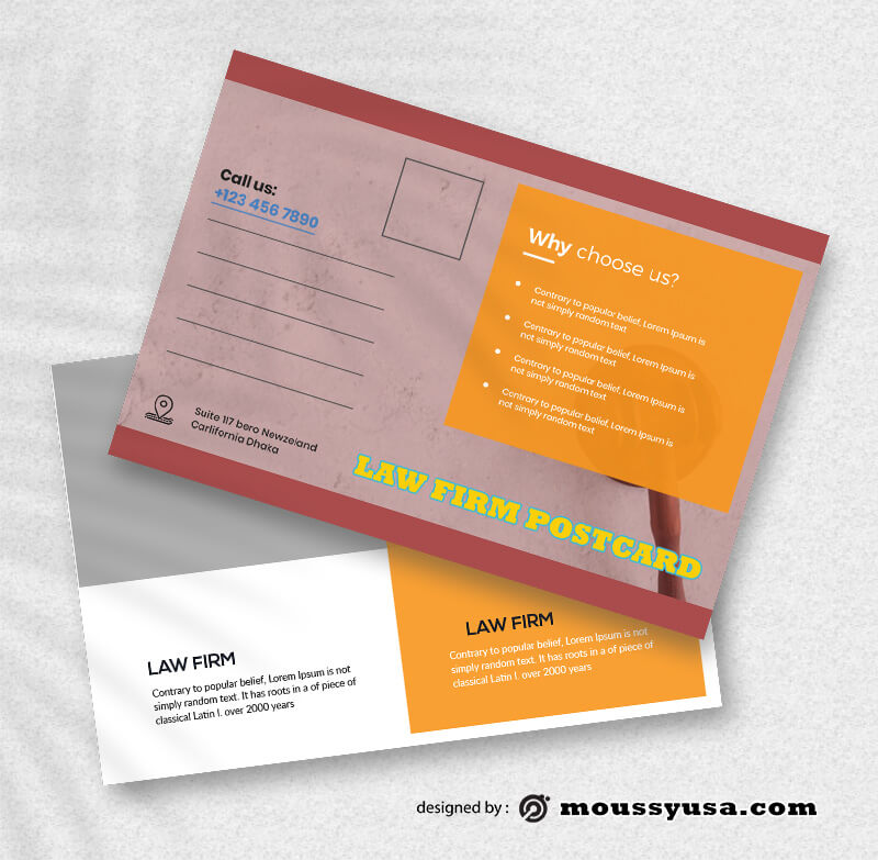 Law Firm PostCard Design PSD