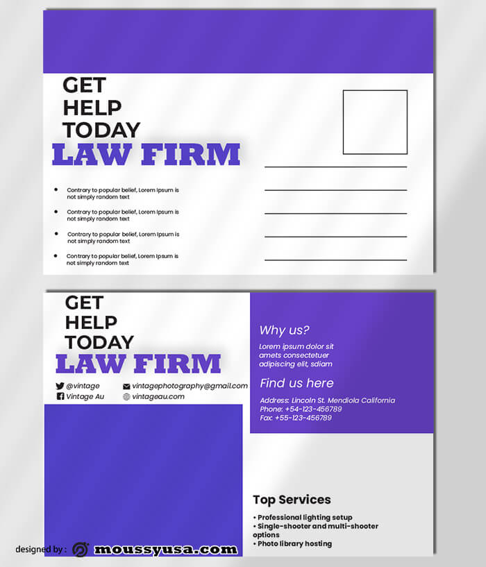 Law Firm PostCard Design Template