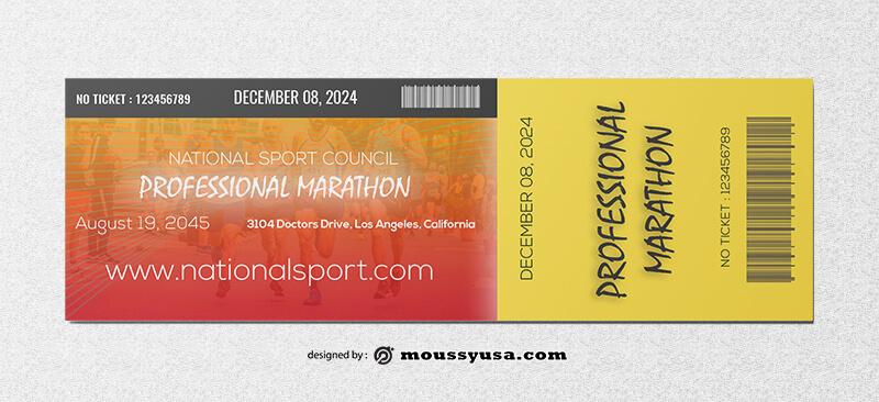 Marathon Ticket Template Design