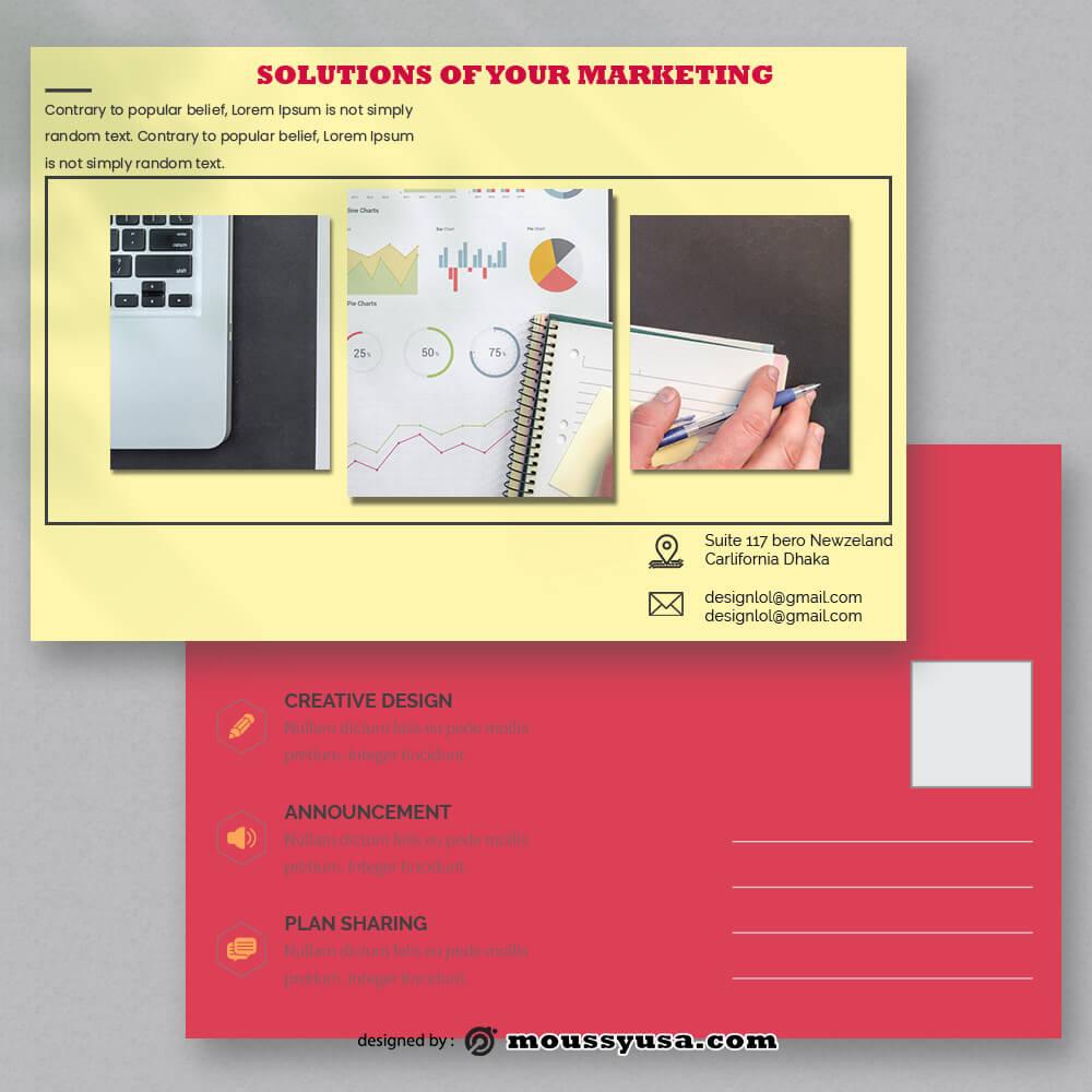 Marketing Postcard Template Design