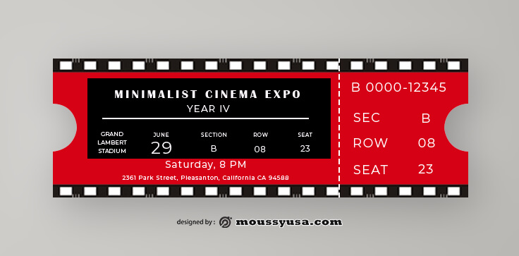 Movie Ticket Design Ideas