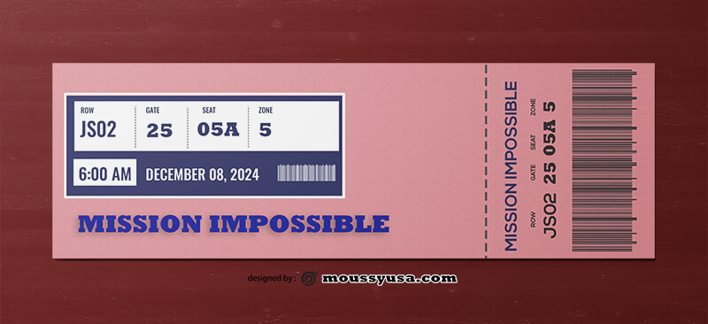 Movie Ticket Template Sample