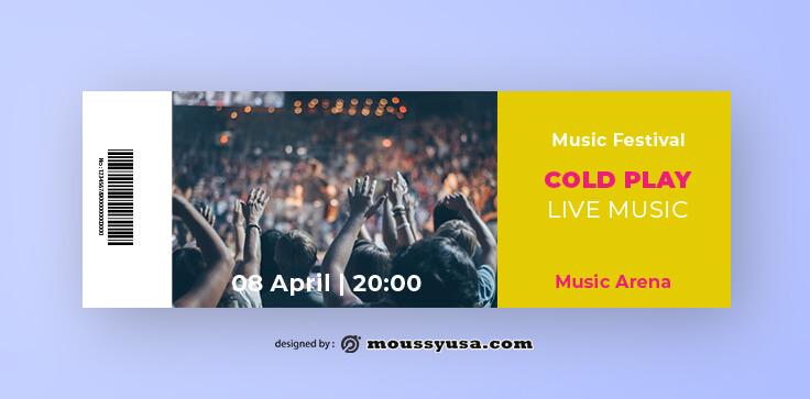 Music Concert Ticket Template Sample