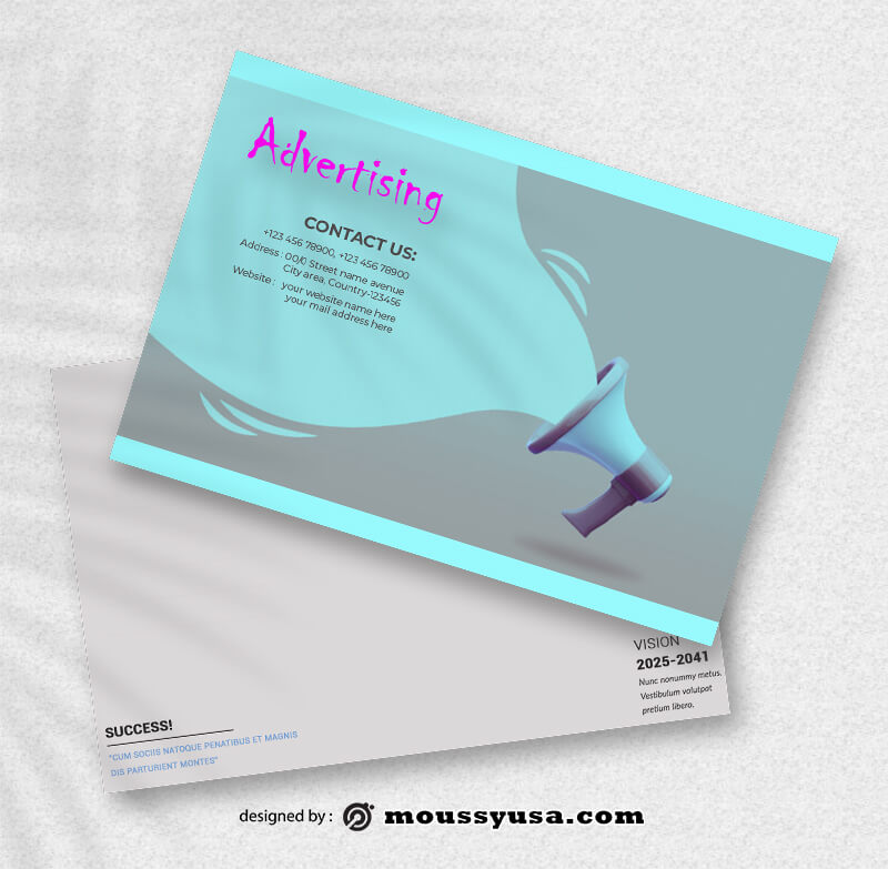 PSD Advertising Postcard Template