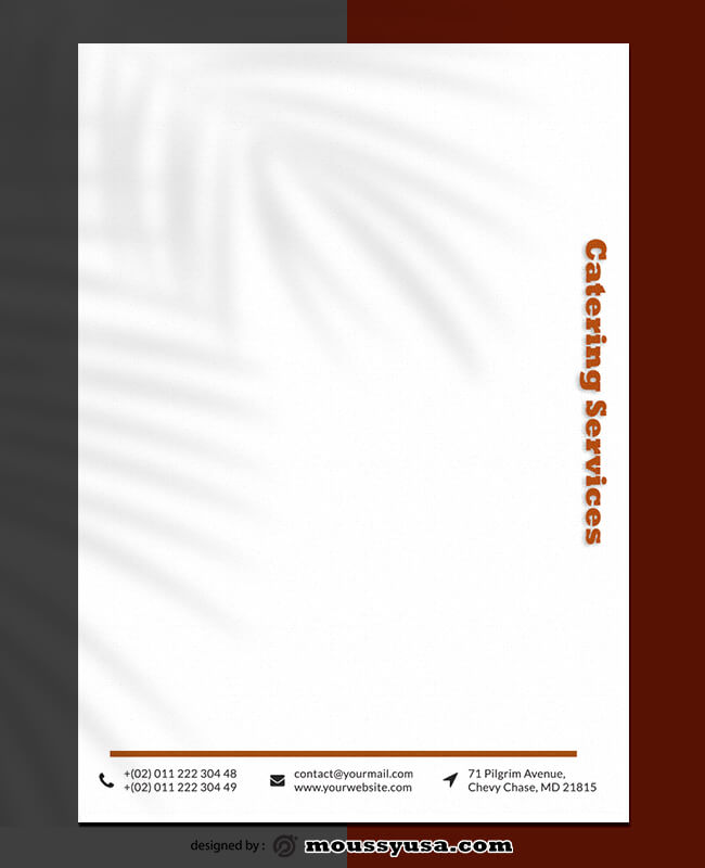 PSD Catering Services Letterhead Template