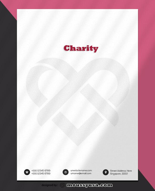 PSD Charity Letterhead Template