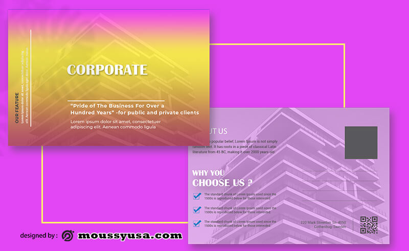 PSD Corporate Postcard Template