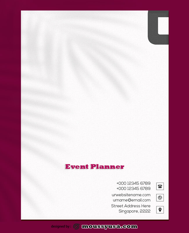 PSD Event Planner Letterhead Template