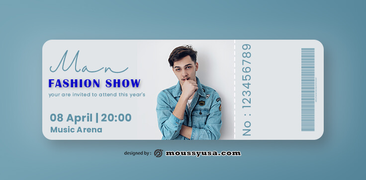 PSD Fashion Show Ticket Template