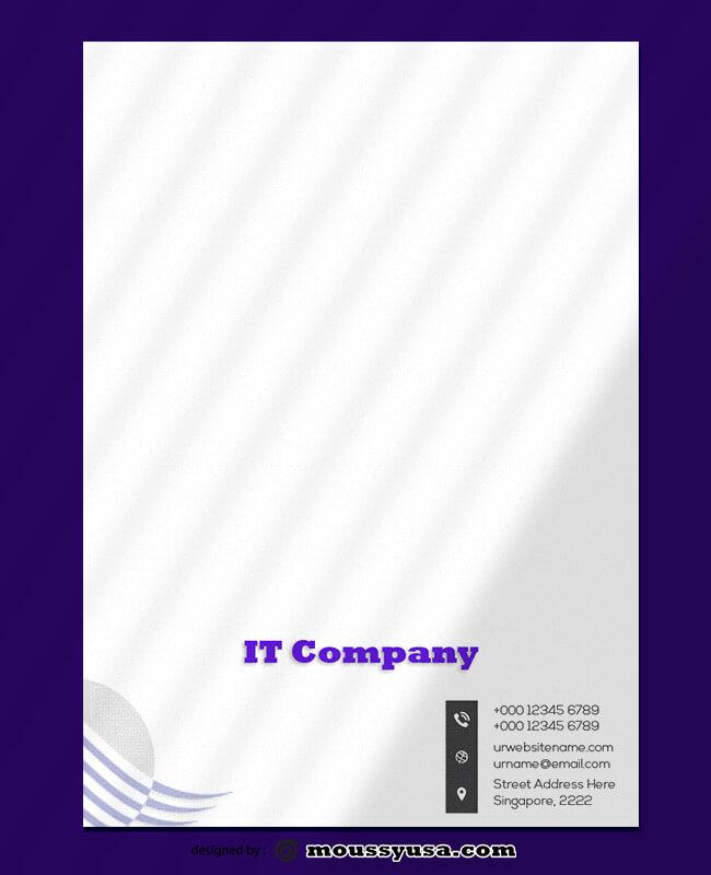 PSD IT Company Letterhead Template