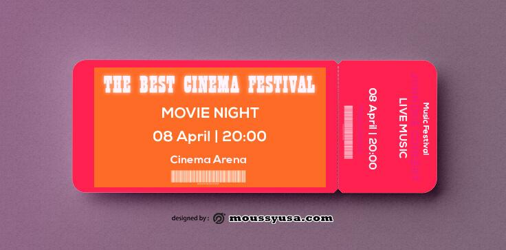 PSD Movie Ticket Template
