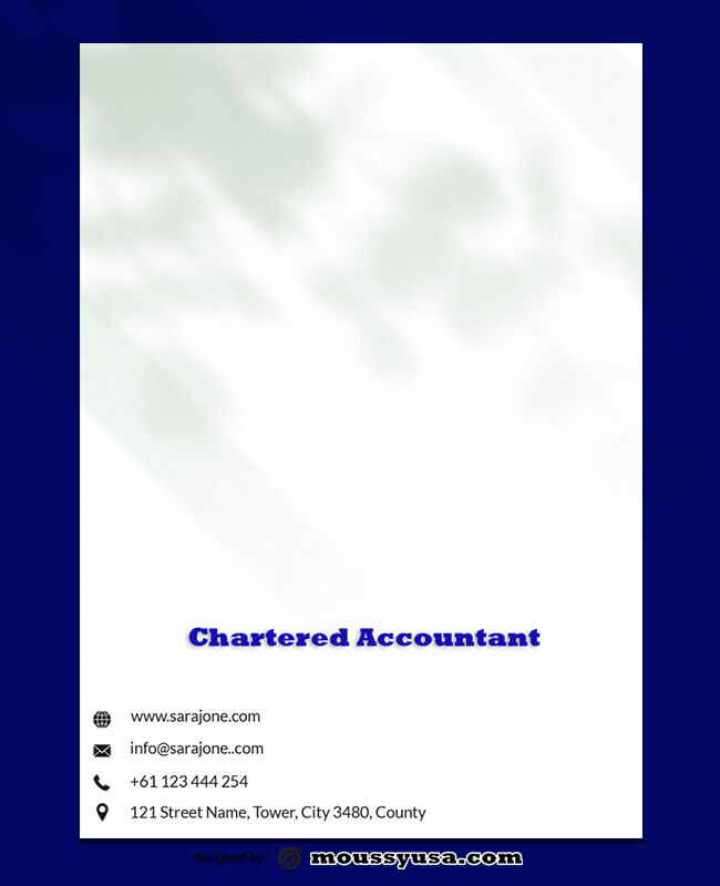 PSD Template For Chartered Accountant Letterhead