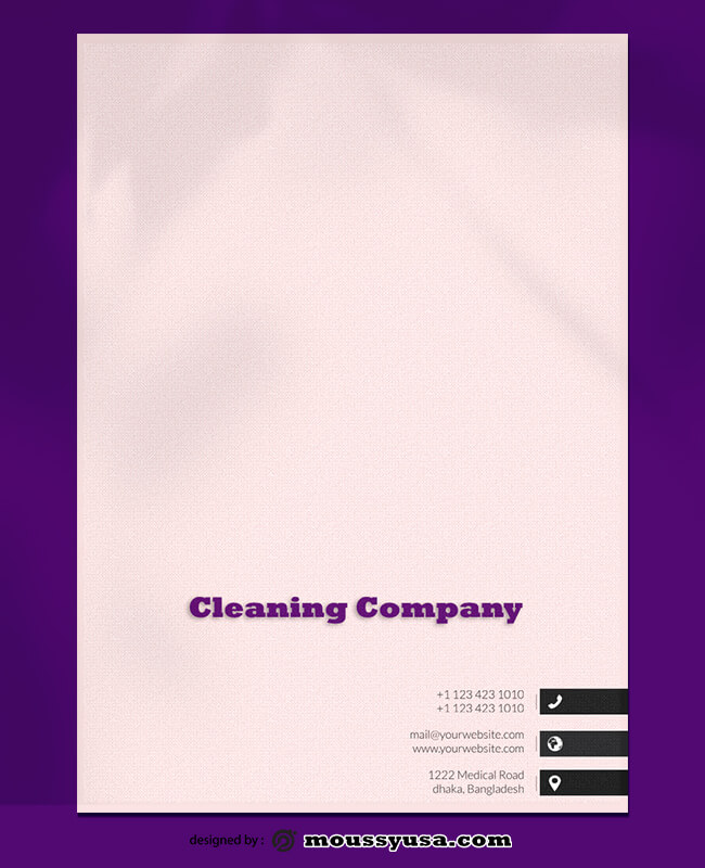 PSD Template For Cleaning Company Letterhead