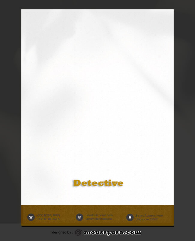 PSD Template For Detective Letterhead