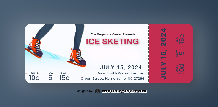 PSD Template For Ice Skating Ticket